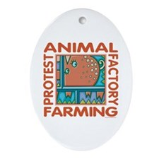 Factory Farming Ornament (Oval)
