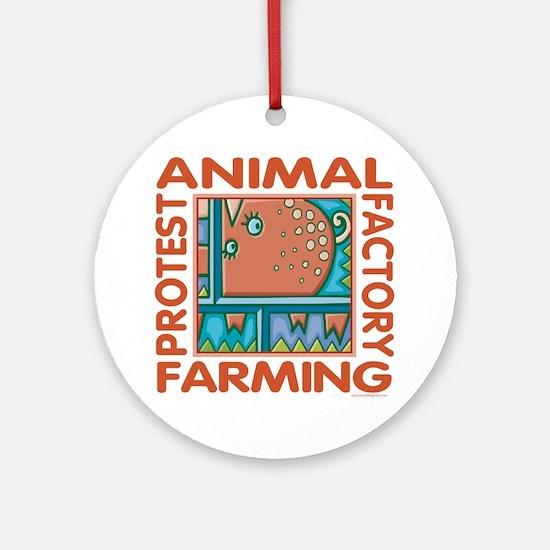 Factory Farming Ornament (Round)