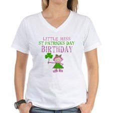 Little Miss St. Patrick's Day Birthday Shirt
