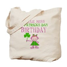 Little Miss St. Patrick's Day Birthday Tote Bag