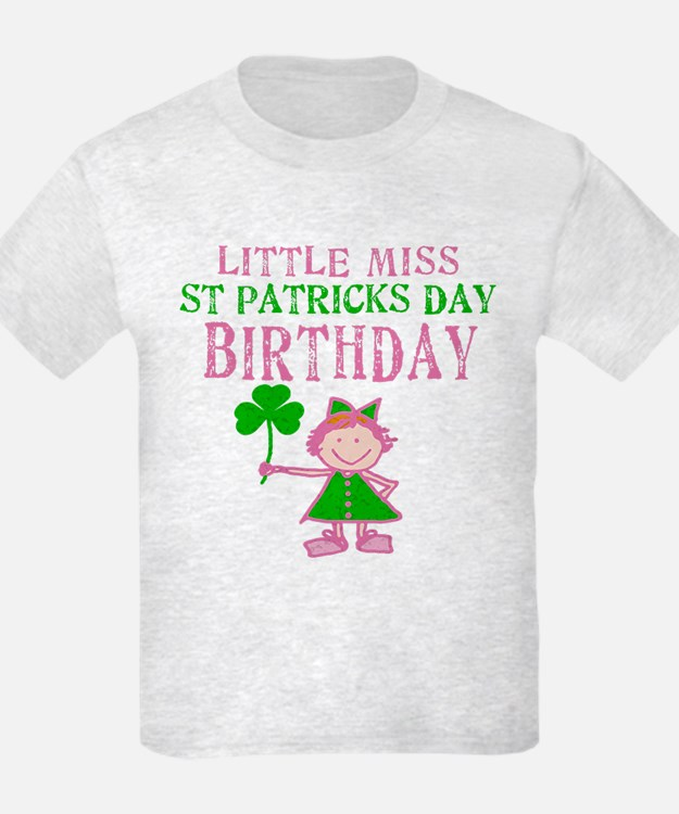Little Miss St. Patrick's Day Birthday T-Shirt