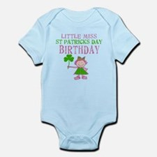 Little Miss St. Patrick's Day Birthday Infant Body