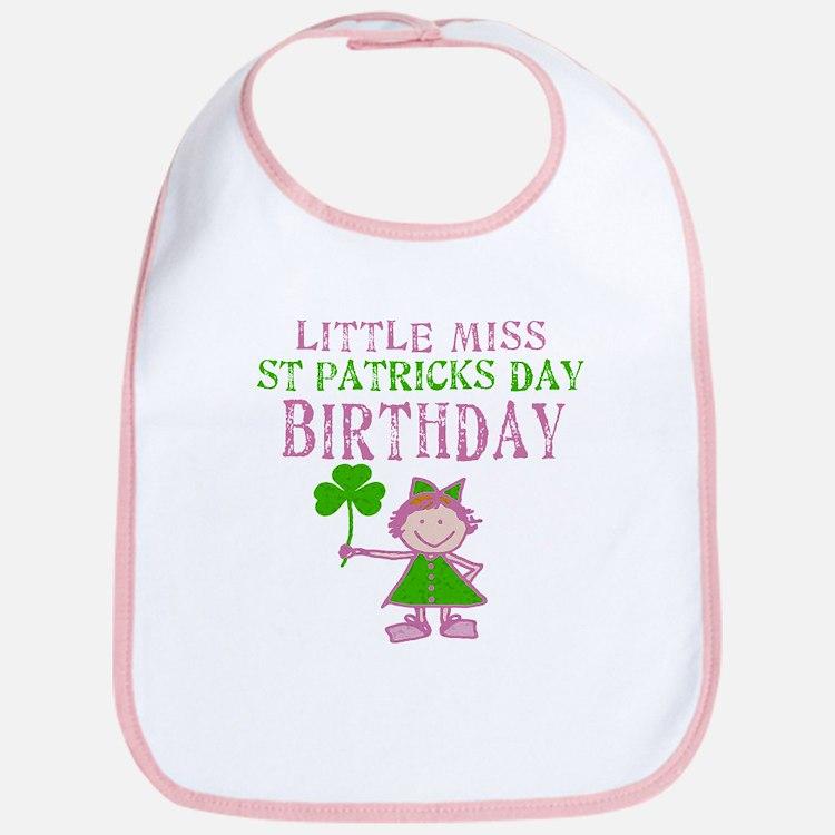 Little Miss St. Patrick's Day Birthday Bib