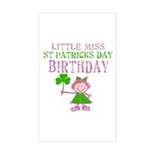 Little Miss St. Patrick's Day Birthday Decal