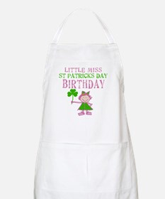 Little Miss St. Patrick's Day Birthday Apron