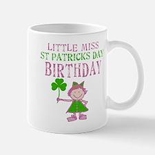 Little Miss St. Patrick's Day Birthday Mug