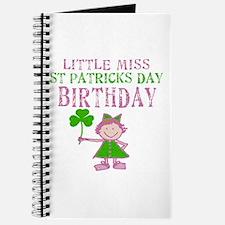 Little Miss St. Patrick's Day Birthday Journal