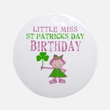 Little Miss St. Patrick's Day Birthday Ornament (R
