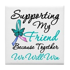 Thyroid Cancer Friend Tile Coaster