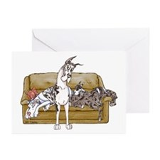 HMrlMrlqnM Tan Couch Greeting Cards (Pk of 20)