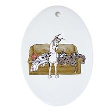 HMrlMrlqnM Tan Couch Oval Ornament