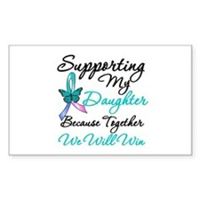 Thyroid Cancer Daughter Rectangle Decal