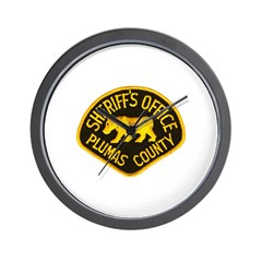 Plumas County Sheriff Wall Clock