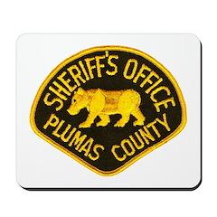Plumas County Sheriff Mousepad