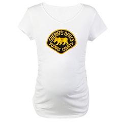 Plumas County Sheriff Maternity T-Shirt