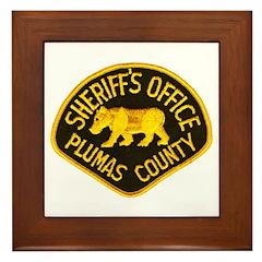 Plumas County Sheriff Framed Tile