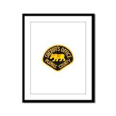 Plumas County Sheriff Framed Panel Print
