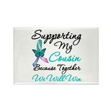 Thyroid Cancer Cousin Rectangle Magnet