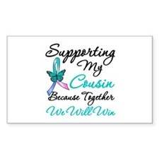 Thyroid Cancer Cousin Rectangle Decal