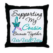 Thyroid Cancer Cousin Throw Pillow