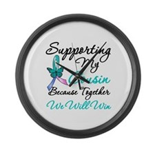 Thyroid Cancer Cousin Large Wall Clock
