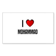 I LOVE MOHAMMAD Rectangle Decal