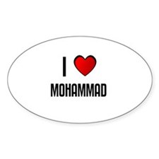 I LOVE MOHAMMAD Oval Decal