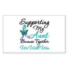 Thyroid Cancer (Aunt) Rectangle Decal