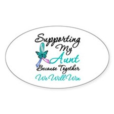 Thyroid Cancer (Aunt) Oval Decal