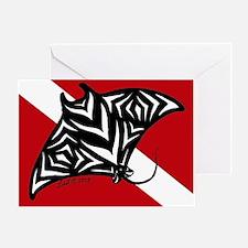 Manta Dive Greeting Card