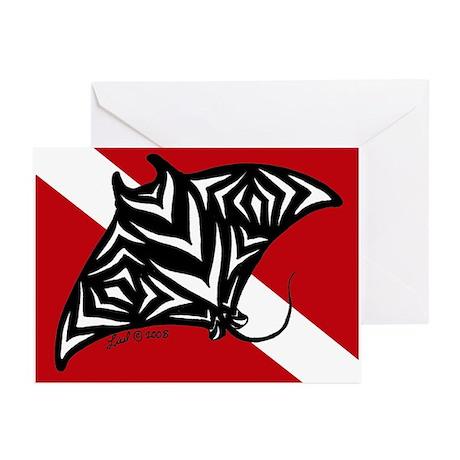 Manta Dive Greeting Cards (Pk of 10)