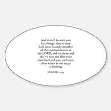 NUMBERS 15:39 Oval Decal