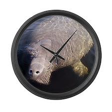 Manatee Large Wall Clock