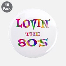 "80's 3.5"" Button (10 pack)"