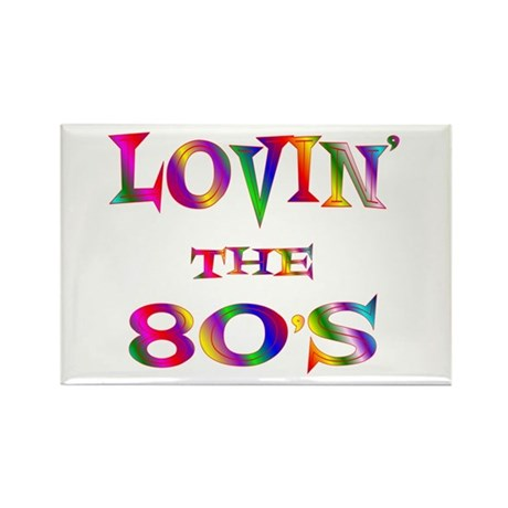 80's Rectangle Magnet (100 pack)