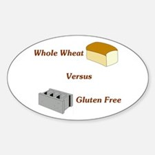 Wheat vs. Gluten Free Oval Decal