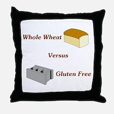Wheat vs. Gluten Free Throw Pillow