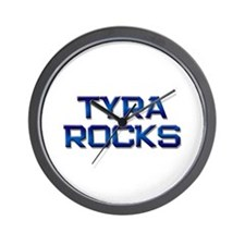 tyra rocks Wall Clock
