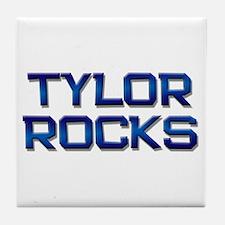 tylor rocks Tile Coaster