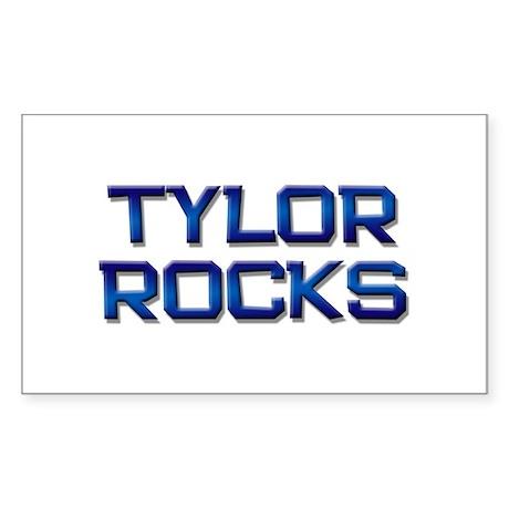 tylor rocks Rectangle Sticker