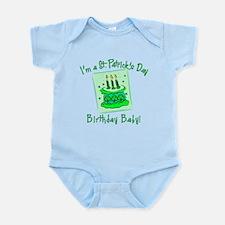 St Patricks Day Birthday Baby Infant Bodysuit