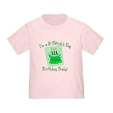 St Patricks Day Birthday Baby T