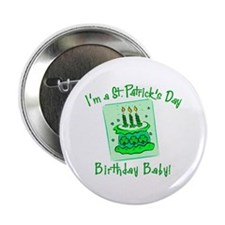 "St Patricks Day Birthday Baby 2.25"" Button (10 pac"