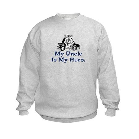 My Uncle is My Hero Kids Sweatshirt