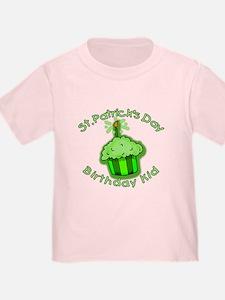 St Patricks Day Birthday Kid T