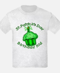 St Patricks Day Birthday Kid T-Shirt