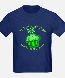 St Patricks Day Birthday Kid T