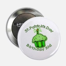 "St Patricks Day Birthday Kid 2.25"" Button"