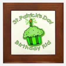 St Patricks Day Birthday Kid Framed Tile