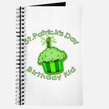 St Patricks Day Birthday Kid Journal